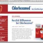 Screenshot von Chlorhexamed Website